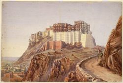E. view of Jodhpur Fort (Rajputana)